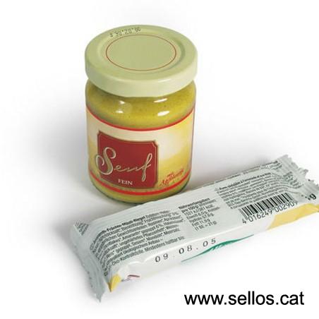 Per marcar envasos d'aliments amb la qualitat de R-9