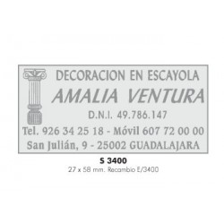 Sello automático Colop S-3400 placa de 58x27 mm.