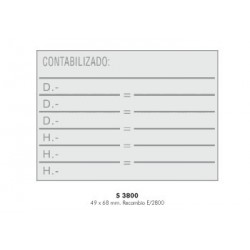 Sello automático Colop S-3800 placa de 68x49 mm.