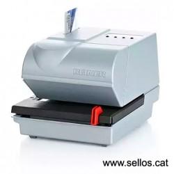 Fechadora electronica con placa de texto 42x30 mm.
