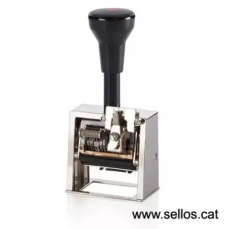 Numerador fechador Reiner con placa 45 x 25 mm.