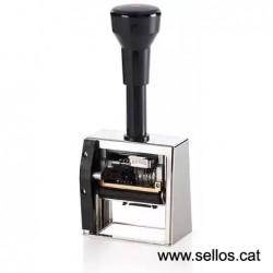 Numerador fechador Reiner con placa 50 x 30 mm.