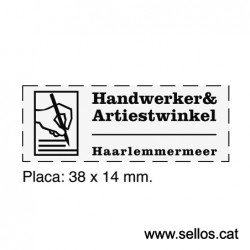 Printy Trodat 3911 placa de 38x14 mm.