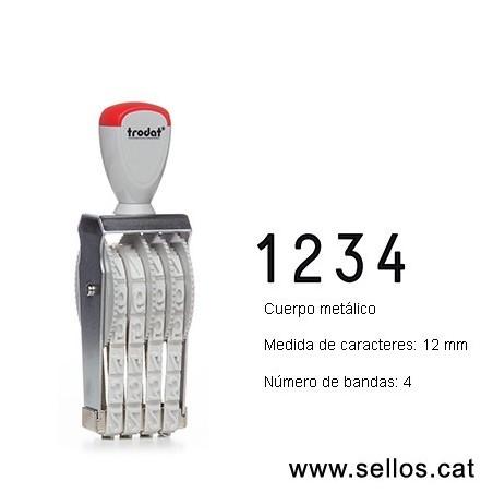 Numerador 4 bandes de 12 mm.