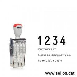 Numerador 4 bandes de 15 mm.