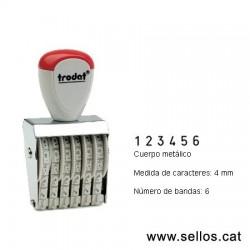 Numerador 6 bandes de 4 mm.