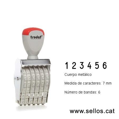 Numerador 6 bandas de 7 mm.