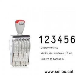 Numerador 6 bandas de 12 mm.