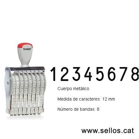 Numerador 8 bandes de 12 mm.