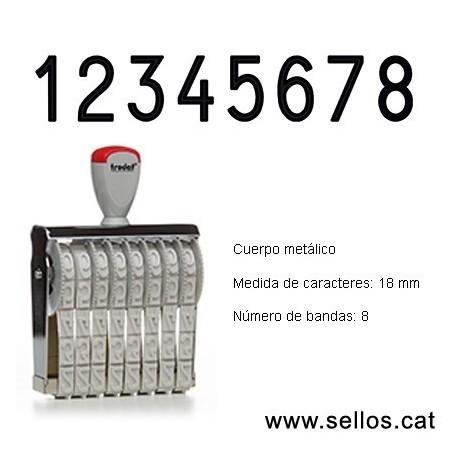 Numerador 8 bandas de 18 mm.
