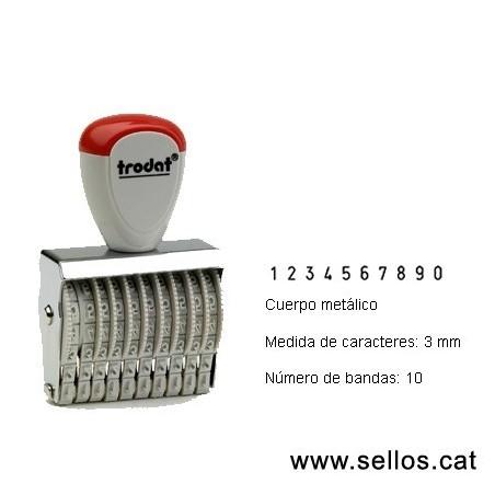 Numerador 10 bandes de 3 mm.