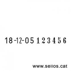 Fechador numerador Reiner de 6 cifras