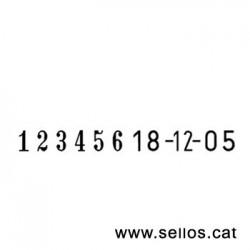 Numerador fechador Reiner de 6 cifras